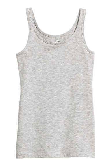Jersey vest top - Light grey marl - Kids | H&M CN