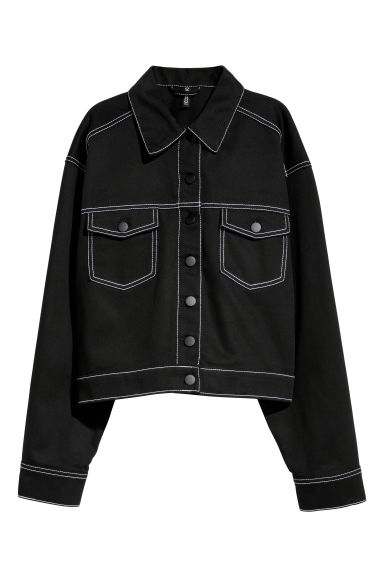 Short twill jacket - Black -  | H&M IE