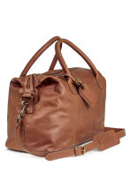 Leather weekend bag - Brown - Men | H&M CN 2