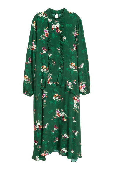 Viscose dress - Green/Floral -  | H&M