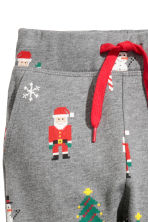 Sweatshirt and trousers - Grey marl/Santas - Kids | H&M CN 4