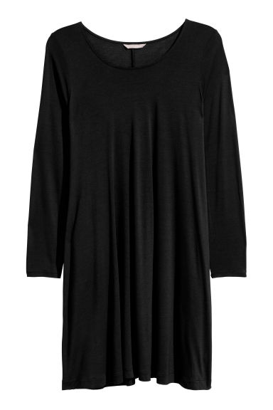 H&M+ Viscose tunic - Black - Ladies | H&M CN