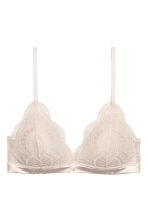 Non-wired push-up bra - Light powder beige - Ladies | H&M GB 2