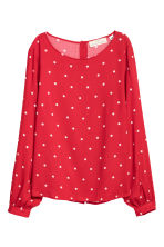 Patterned blouse - Red/Spotted - Ladies | H&M IE 2