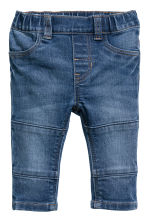 2-pack denim leggings - Denim blue/Black - Kids | H&M CN 2