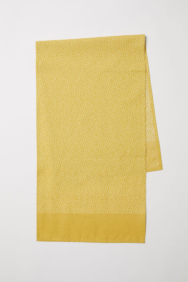 Cotton table runner - Yellow/Spotted - Home All | H&M CN
