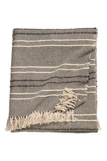 Textured striped bedspread
