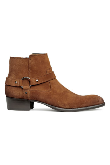 Suede ankle boots - Dark brown -  | H&M IE