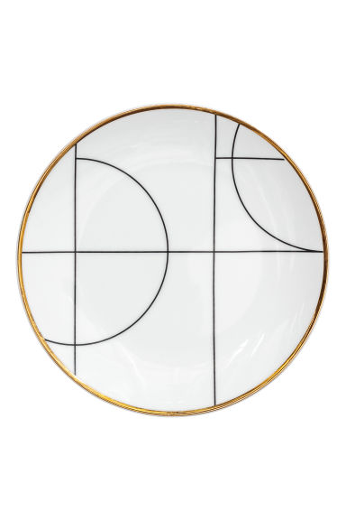Patterned plate - White/Patterned - Home All | H&M IE
