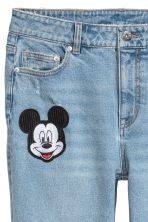 Boyfriend Low Jeans - Light denim blue/Mickey Mouse - Ladies | H&M 4