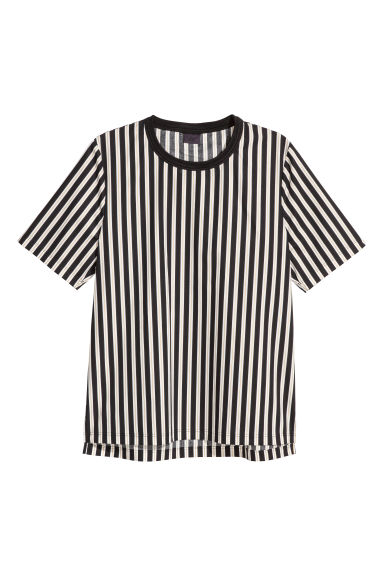 Striped T-shirt - Black/Striped - Men | H&M GB