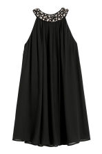 Halterneck dress with sparkles - Black - Ladies | H&M 2