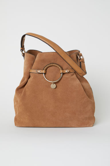 Suede hobo bag - Camel -  | H&M