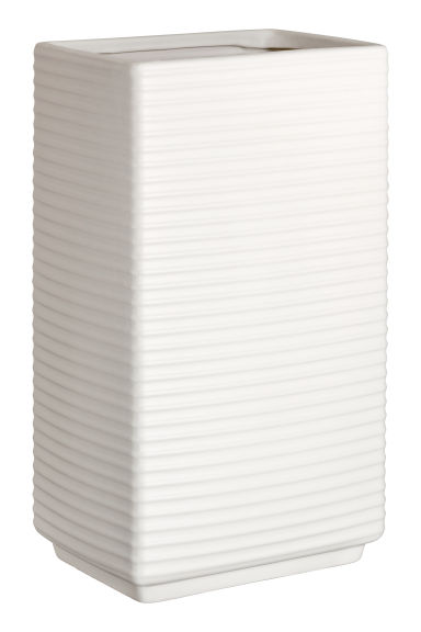Large stoneware vase - White - Home All | H&M GB
