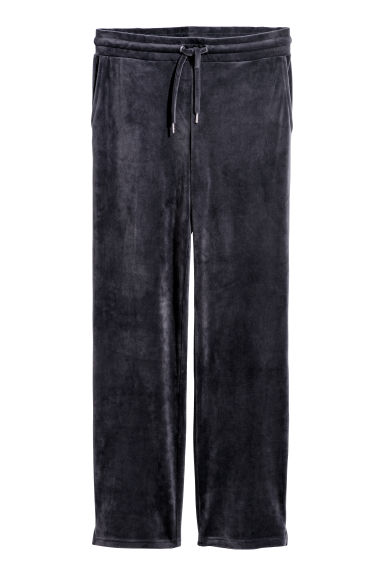 Velour joggers - Dark grey - Ladies | H&M
