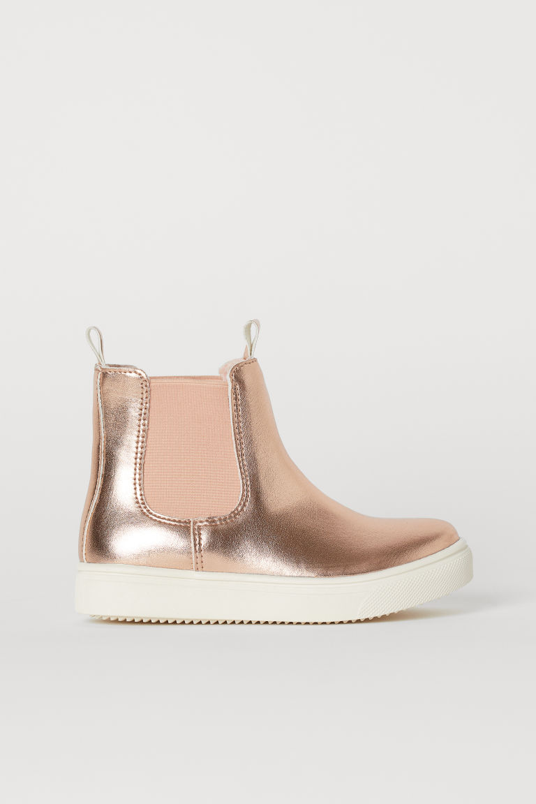 Warm-lined Chelsea boots - Rose gold-coloured - Kids   H&M GB