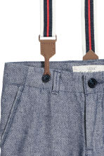 Trousers with braces - Dark blue - Kids | H&M CN 3