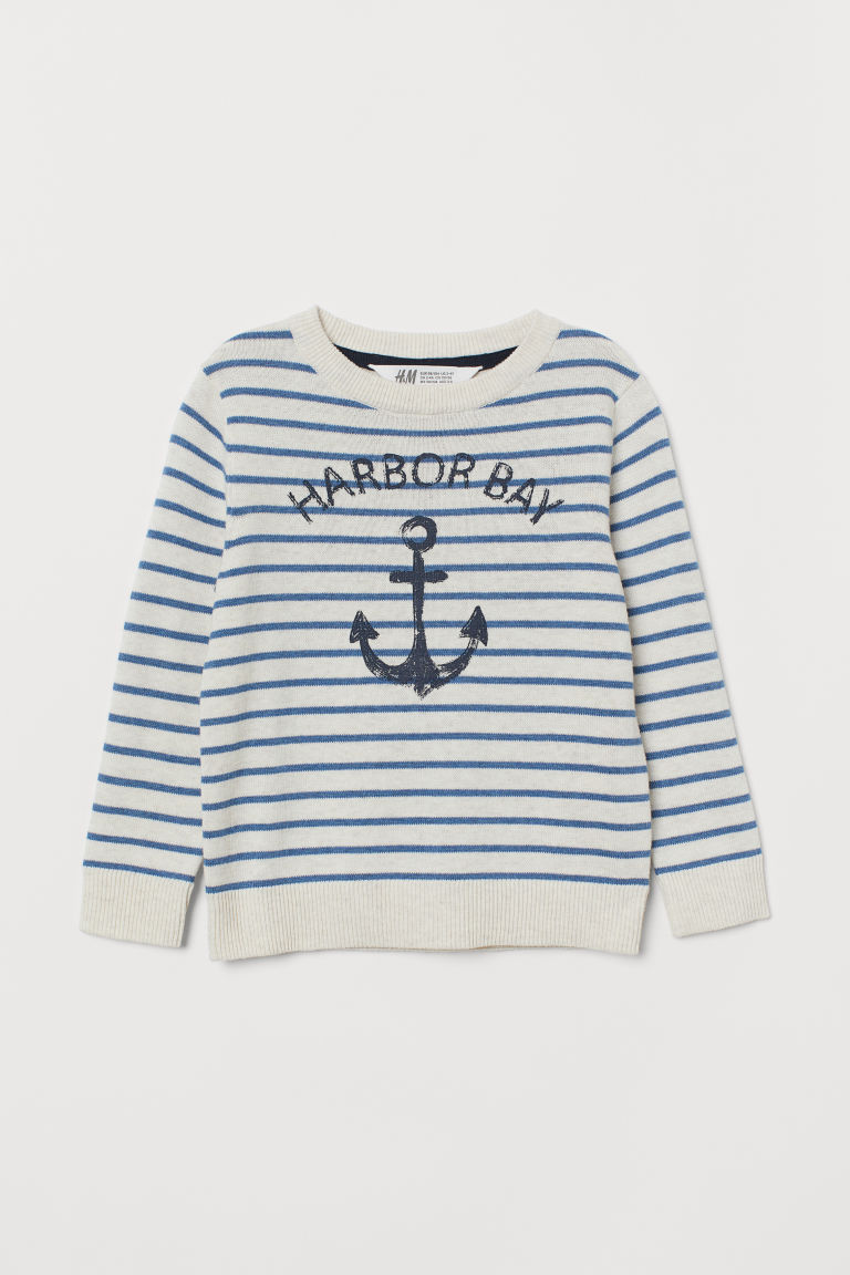 Fine-knit Printed Sweater