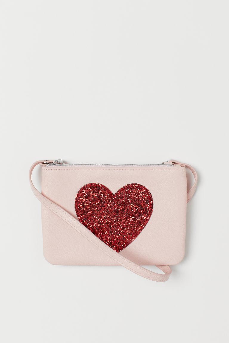 Small shoulder bag - Pink/Heart - Kids | H&M GB