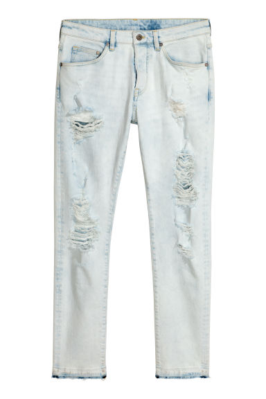 Trashed Skinny Jeans - Bleu clair washed out - HOMME | H&M FR