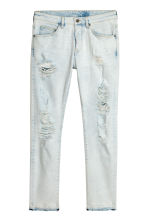 Trashed Skinny Jeans - Lichtblauw washed out - HEREN | H&M NL 1