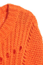 Knitted mohair-blend jumper - Orange - Ladies | H&M 3