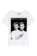 Printed T-shirt - White/Marcus & Martinus - Kids | H&M 2