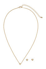 Necklace and studs - Gold-coloured - Ladies | H&M 1