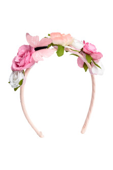 Alice band with flowers