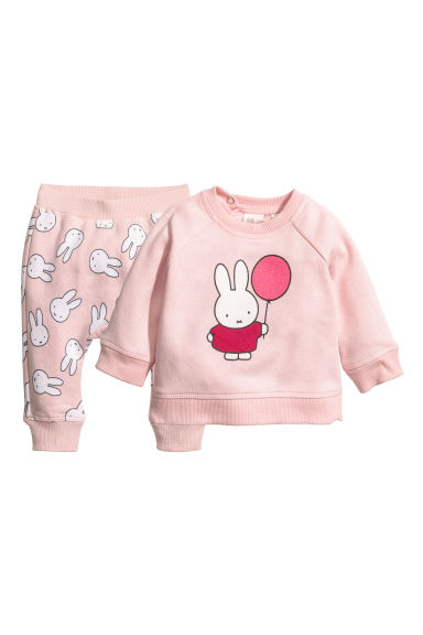 Sweatshirt and joggers - Light pink/Miffy - Kids | H&M CN