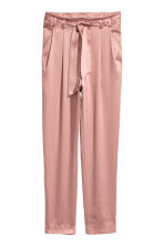 Satin trousers - Old rose - Ladies | H&M 2