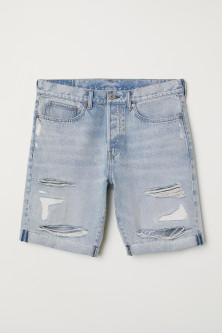 Straight Fit Denim shorts