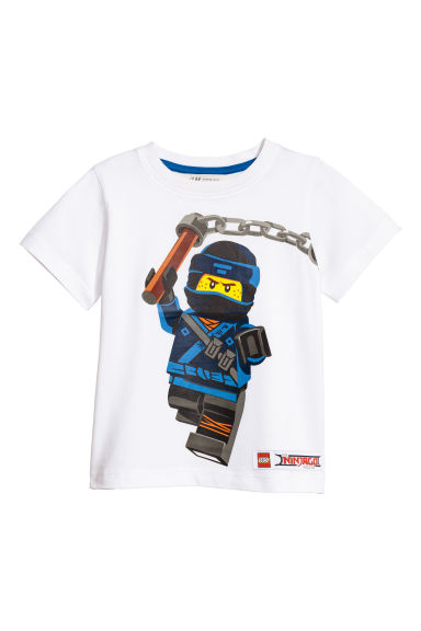 T-shirt con stampa - Bianco/Lego -  | H&M CH