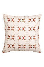 Slub-weave cushion cover - Natural white/Patterned - Home All | H&M CN 2