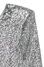Sequined dress - Silver-coloured - Ladies | H&M 4