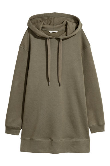 Oversized hooded top - Khaki green -  | H&M