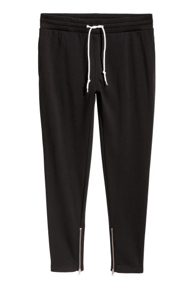 Joggers with zips - Black - Men | H&M GB