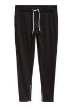 Joggers with zips - Black - Men | H&M GB 1
