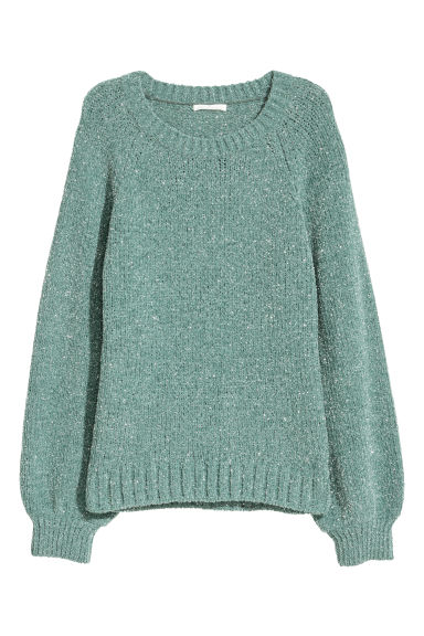 Glittery jumper - Turquoise/Glittery - Ladies | H&M