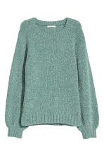 Pull scintillant - Turquoise/scintillant - FEMME | H&M BE 2