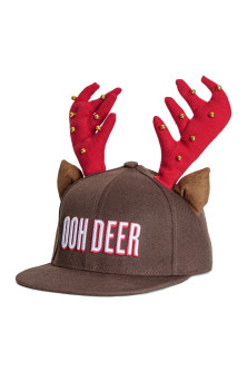 Cap with antlers