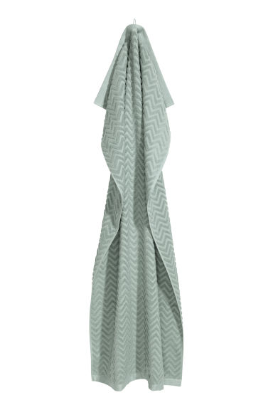 Jacquard-patterned bath towel - Light green - Home All | H&M GB