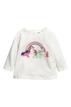 Tops en jersey, lot de 2 - Blanc/My Little Pony - ENFANT | H&M FR 2