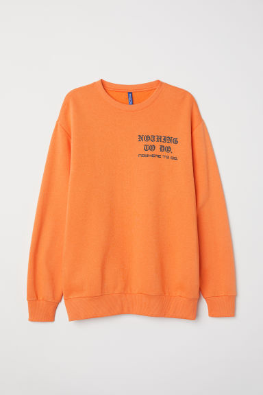 Sweater met geprint motief - Oranje - HEREN | H&M BE