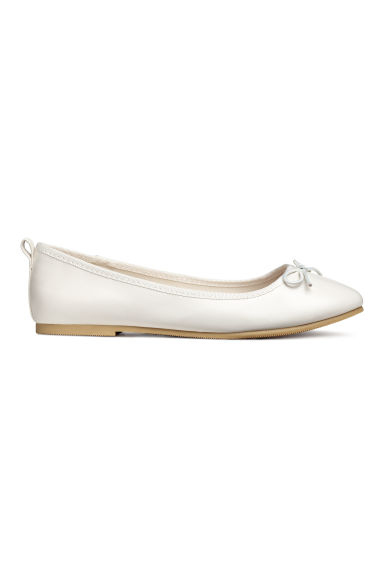 Ballet pumps - White -  | H&M CN