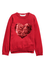Sequined jumper - Red/Heart - Kids | H&M CN 2