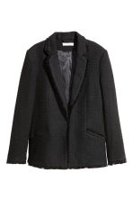 Jacquard-weave jacket - Black - Ladies | H&M CN 2