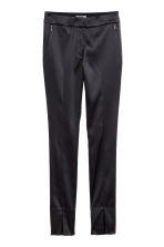 Tailored trousers - Black/Satin - Ladies | H&M IE 2