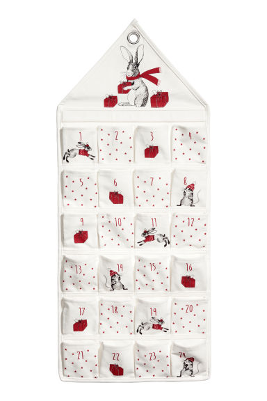 Calendrier de l'Avent mural - Blanc/rouge - HOME | H&M BE