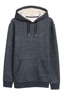Pile-lined Hooded Sweatshirt
